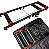 AccelaVelo Indoor Bike Roller Trainer | Light & Strong Frame with Padded Case | Compact Portable Bi-Fold Design | Seamless Rollers | 5 Year Warranty (Black + Bag) Review