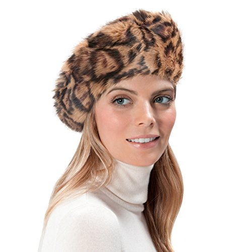 Eric Javits Luxury Fashion Designer Women's Headwear Hat - Jag Beret - Brown Mix