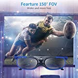BOBLOV DLP Link 3D Glasses Active Shutter 144Hz