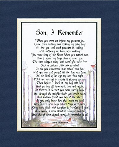 A Gift Present Poem For A Son #53, 18th 21st Birthday