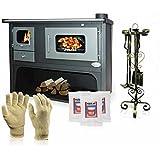 Zvezda fornello a legna, stufa a legna di cottura, modello classico Maxi VR 10, potenza 17KW, boiler, forni, piastre