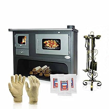 Cocina de madera Zvezda,cocina estufa, modelo Classic Maxi VR10, 17kW,caldera