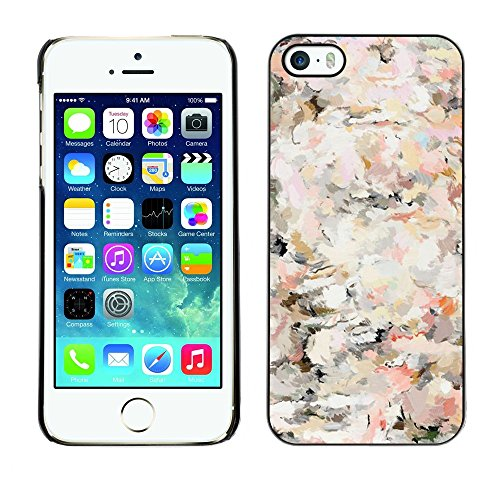 TopCaseStore / caoutchouc Hard Case Housse de protection la Peau - Floral Vintage Vignette Wallpaper Flowers - Apple iPhone 5 / 5S