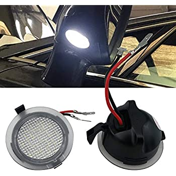 Amazon Com 2pcs Set High Power White Led Side Mirror