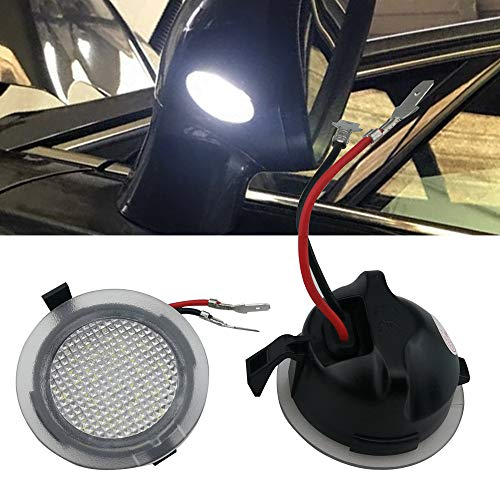 - 2pcs set High Power White LED Side Mirror Puddle Lights For Toyota Tundra 2007-2018
