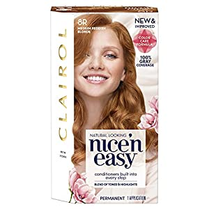15. Clairol Nice 'n Easy Permanent Color, 8R/108 Medium Reddish Blonde, Born Red (PACKAGING MAY VARY)