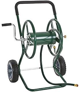 IKAYAA Garden Hose Reel Cart, Steel Frame 2 Wheel Outdoor Water Planting,  200u0027