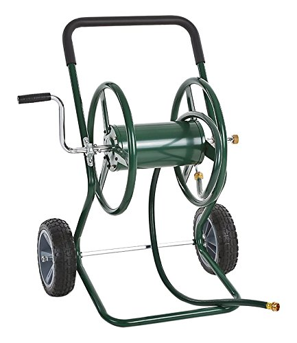 IKAYAA Garden Hose Reel Cart Steel Frame 2 Wheel Outdoor Water Planting 200u0027  sc 1 st  Amazon.com & Amazon.com : IKAYAA Garden Hose Reel Cart Steel Frame 2 Wheel ...