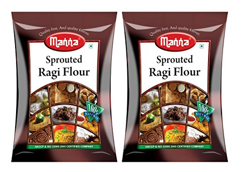 Manna Sprouted Ragi Flour (500g) - Pack of 2