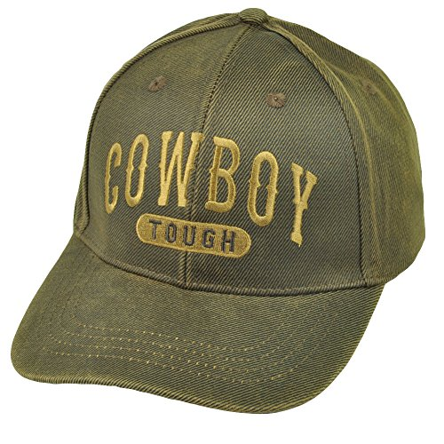 Western Theme Ball Cap Hat (One Size Fits Most Adults, Cowboy Tough Oilskin) -