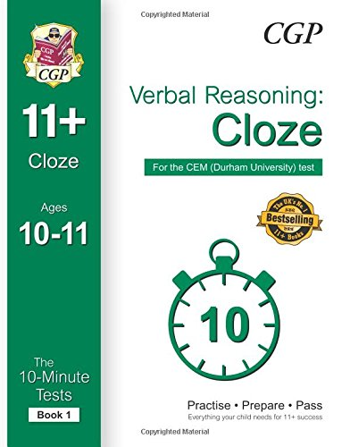 10-Minute Tests for 11+ Verbal Reasoning: Cloze Ages 10-11 (Book 1) - CEM Test PDF