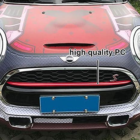 Red YaaGoo K/ühlergrill Dekoration Abdeckstreifen F/ür Mini Cooper F55 F56 Auto Styling Zubeh/ör