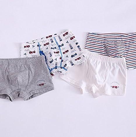 Ropa interior de algodon niños niños pro Boxer cuatro pack bebe cuatro angulo 4 Piece pants