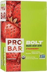 Probar Bolt Energy Chews - Strawberry - 2.1 oz - 12 ct