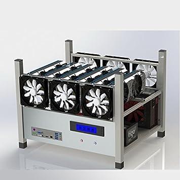 amazon 6 gpuスタッカブルopen air miningケースコンピュータフレーム