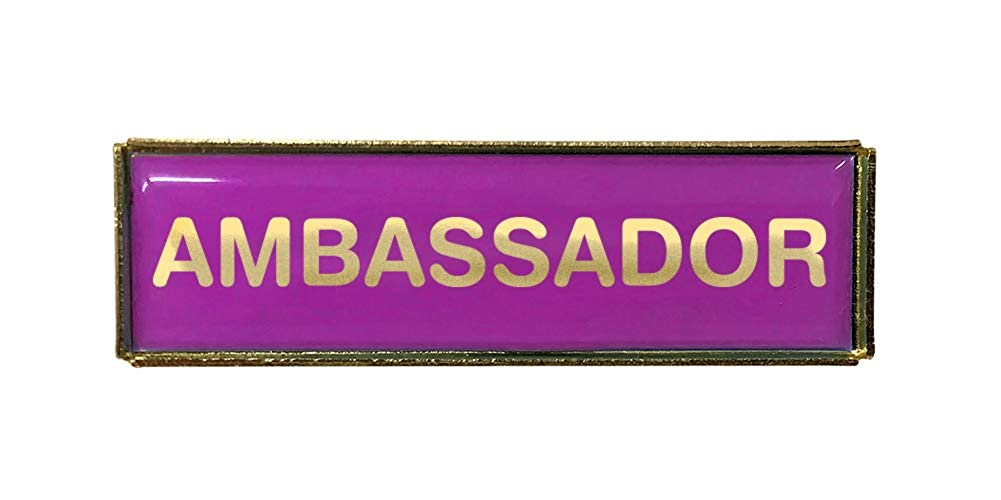 Capricornone Ambassador Purple Polydome Budget Badge Gold Finish