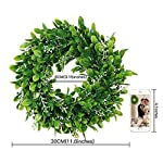 Adeeing-Round-Wreath-Artificial-Wreath-Green-Leaves-for-Door-Wall-Window-Decoration-Wedding-Party-Christmas-Dcor-11-Inches