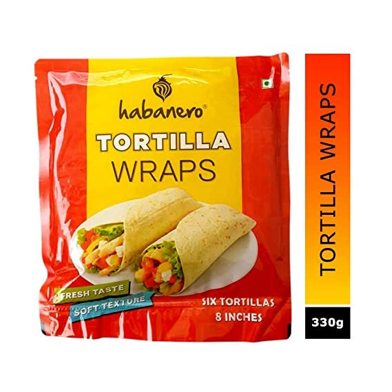 Habanero Tortilla Wraps for Burrito, Tacos and Rolls