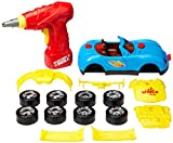 Toydaloo Self-Assemble 30-Piece Racing Kids Car Toy, Sounds Lights - Includes Mini Power Drill and Screws