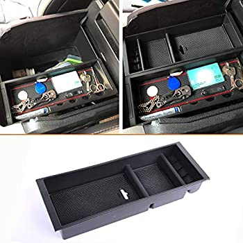 Inner Accessories Central Armrest Storage Box Holder Container 1pc For Ford F150 F-150 2015 2016 2017