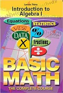 Introduction to Algebra I