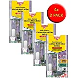 VALUE PACK 4 Twin Packs Demi-Diamond Moth Trap Refills - 3 Months of Treatment per Refill - Natural and Effective Treatment against Moths