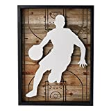 NIKKY HOME Outdoors Sports Basketball Wooden Framed Wall Art Decor