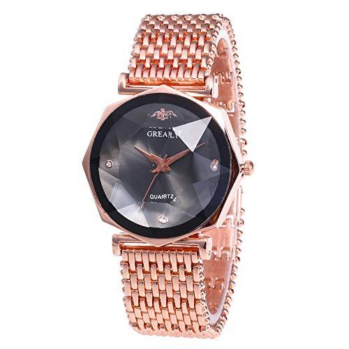 Women Watches for Sale,Bracelet Watch Set Wrist Watch Bangles Diamond Watches(Rose Gold)