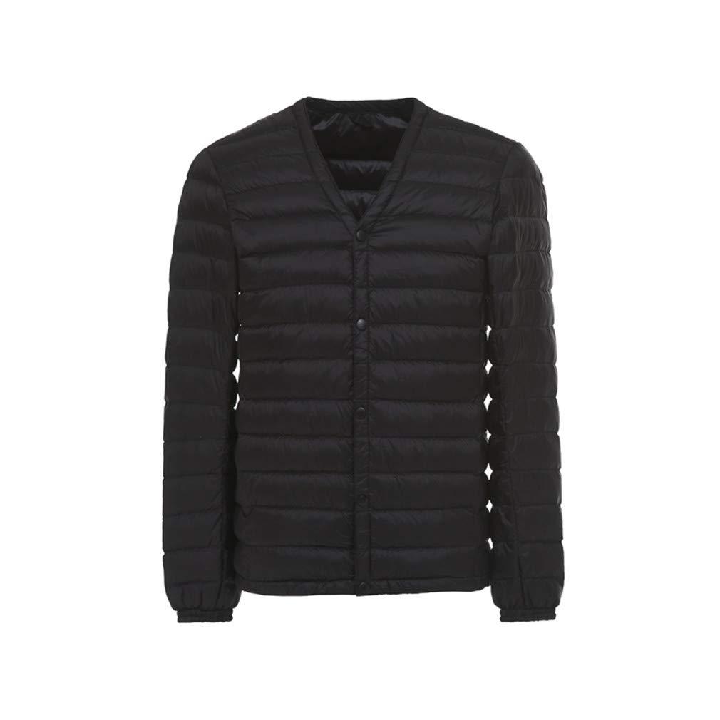 FEIYUQII Mens Ultra Light Down Jacket Slim Windproof Lightweight Coat