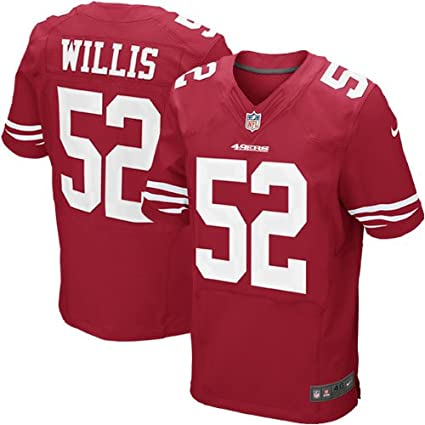 d5a6eefb018 Amazon.com   Nike San Francisco 49ers NFL Patrick Willis  52 Authentic  Elite Jersey (Red) 60   Sports Fan Apparel   Sports   Outdoors