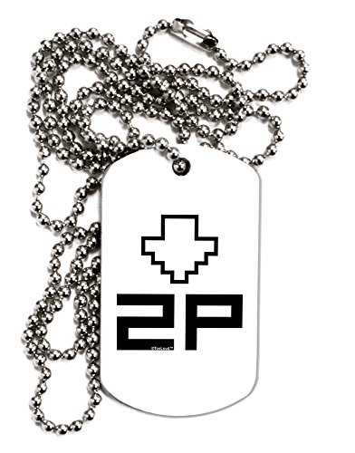 TooLoud Player Two Selection Icon Adult Dog Tag Chain Necklace - 1 (Icon Dog Tag Necklace)