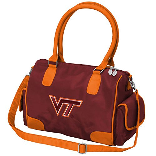 (Charm14 NCAA Virginia Tech Hokies Deluxe Handbag with Embroidered Logo)