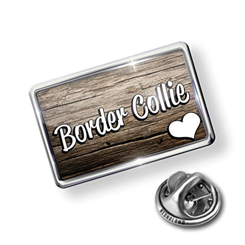 Pin Border Collie, Dog Breed Scotland, England, Wales - Lapel Badge - NEONBLOND - Border Collie Pin