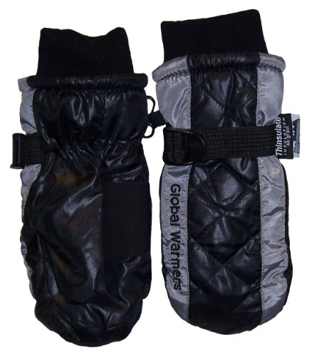 Glabal Warmers Tm Boys Shiny Quilted Taslon Ski Mitten By N'ice Caps