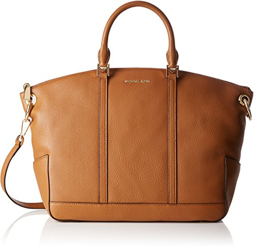 MICHAEL Michael Kors Beckett Large Top-Zip Satchel (Acorn) by Michael Kors