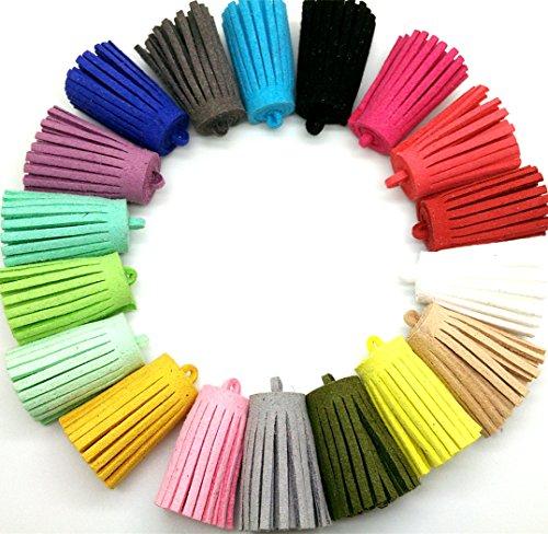 Pamir Tong New 20pcs 35mm Leather Tassel Suede Tassel DIY Earring/Handbag/KeychainJewelry/Bracelet Accessories