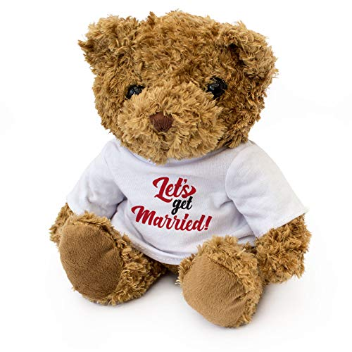 Let's GET Married - Teddy Bear - Cute Soft Cuddly - Gift Present ()