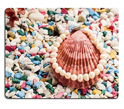 - Mouse pad Gaming Mouse pad Pearl Bracelet on Shell and Stone Background PN00X4420