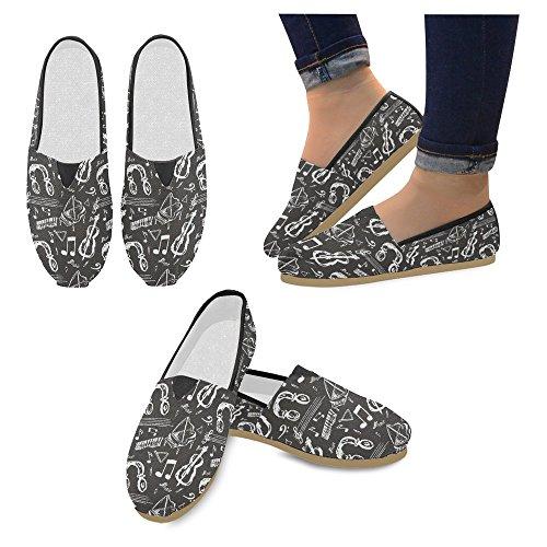 Interestprint Femmes Mocassins Classique Toile Casual Glisser Sur La Mode Chaussures Sneakers Appartements Multi 18