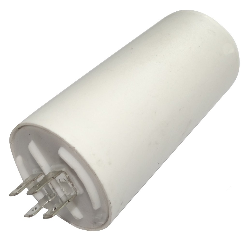 Aerzetix - Condensatore permanente di lavoro per motore 50µ F 450V con capicorda 6.3mm C18688-AL677
