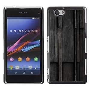 Be Good Phone Accessory // Dura Cáscara cubierta Protectora Caso Carcasa Funda de Protección para Sony Xperia Z1 Compact D5503 // Wood Pattern