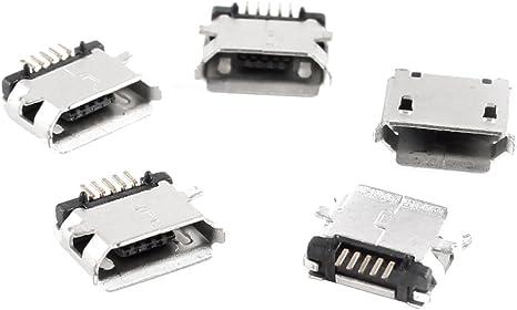 Micro USB Typ B 5-poliger Einbaustecker *Neu*