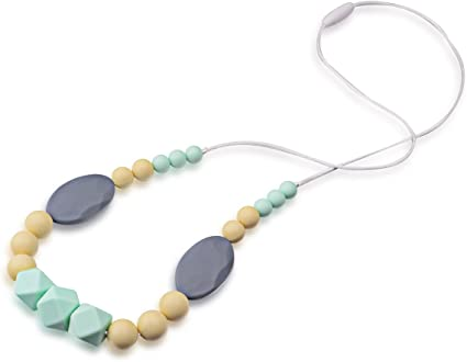 MeBB Chic Baby Teething Necklace For Mom Wear 100/% BPA FREE Made From Food Grade