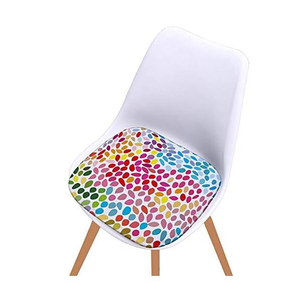 Bledyi, Cuscino Quadrato colorato per Sedia, per Interni ed Esterni, per Soggiorno, Patio, Ufficio, 40 x 40 cm 3 spesavip