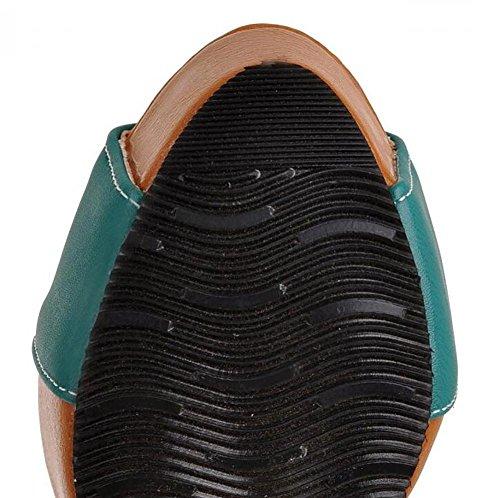 Delle Sandali Dell'annata Di Pu Corrispondenza Mano Pompa Velcro 2 Piattaforma Della Colore I Syyan 41 Donne wPnCB1WPq