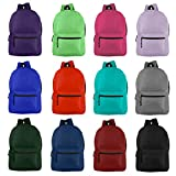 Wholesale 19'' Backpacks for Kids & Adults - Bulk Case of 24 Bookbags 12 Assorted Colors