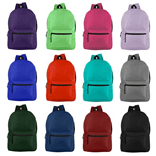 [해외]도매 19 \\ / Wholesale 19 Backpacks for Students & Adults - Bulk Case of 24 Bookbags 12 Assorted Colors