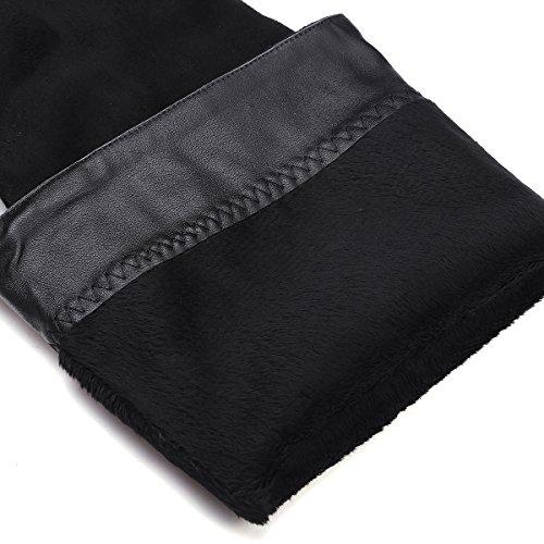 Mujer Botas altas largas Aumento Negro Ante sintética Otoño Invierno Cómodo Plataforma Sobre la rodilla botas De BIGTREE Negro