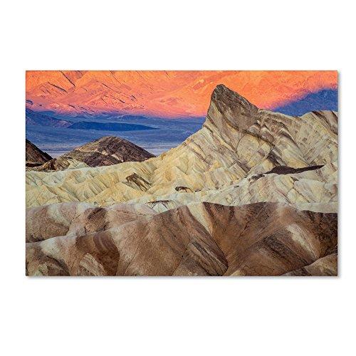 Zabriskie Sunrise Artwork by Pierre Leclerc, 30 by 47-Inch Canvas Wall (Sunrise Death Valley National Park)