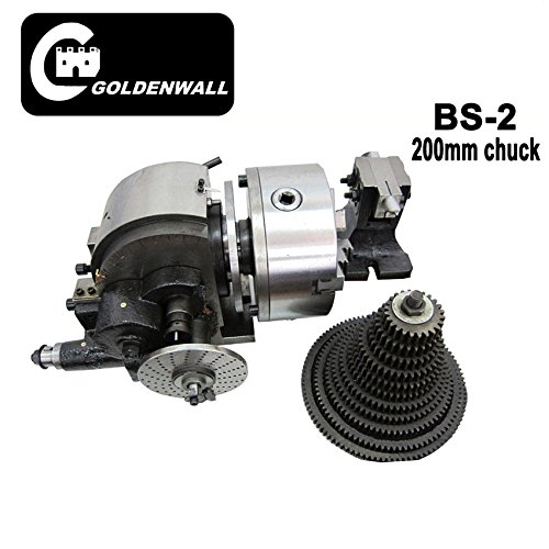 BS-2 Universal Dividing Head Semi Universal Milling Set With 200mm 3-jaw chuck with Hanging wheel B01MTOV9T4